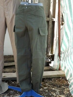 """Genuine Surplus French Olive Green Combat Trousers Vintage Grade 1 29"""" Waist"""
