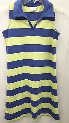 75623a606ce HANNA ANDERSSON 150 Dress Girls US Size 12 Blue Stripe Polo Style Shirt  Dress