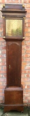 "Early Antique Oak Circa 1740 Long Case Grandfather Clock Case 12"" By 12"" Dial"