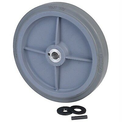 """Ampflow 10"""" High-Traction Drive Wheels with 3/4"""" Keyed Hubs"""