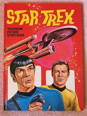 Vintage Rare STAR TREK Television Picture Story Book 1971