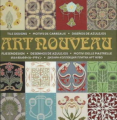 Art Nouveau Tile Designs by D. Hortado De Mendoza (English) Hardcover Book Free