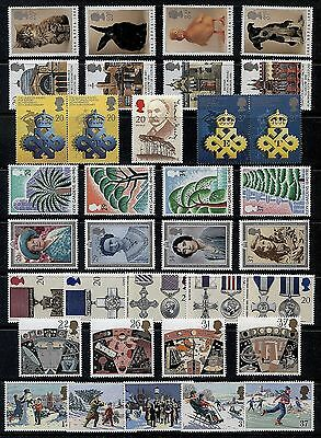 GB 1990 Commemorative Stamps, Year Set~no m/s~Unmounted Mint~UK Seller