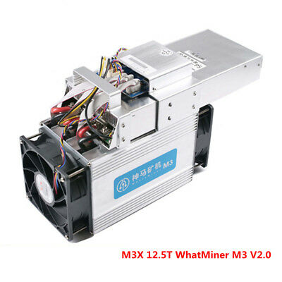 Bitcoin Asic Miner WhatsMiner M3X 12.5TH/S Whatminer M3 V2.0 Scrypt Coin BTC BCH