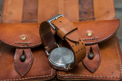 Watch band, French Vintage Ammo, made to order 16mm - 26 mm  Handmade in Finland