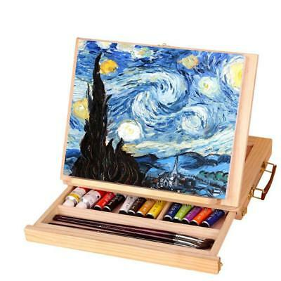 Desktop Drawer Type Easel Wooden Sketch Box Folding Easel Board Painting Tool