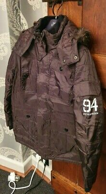 Boys next long coat Brown Size 12 years