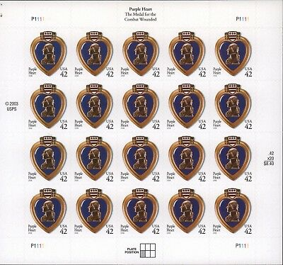 US Postage Purple Heart  Mint Never Hinged Scott# 4264 FREE SHIPPING