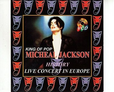 CD MICHAEL JACKSONking of pop HISTORY live in concert europe VCD2CD EX+ (A2812