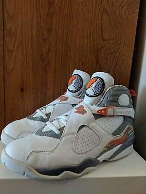brand new 66ead 10e90 2007 Air Jordan 8 VIII Retro Stealth, Orange Blaze 305381-102