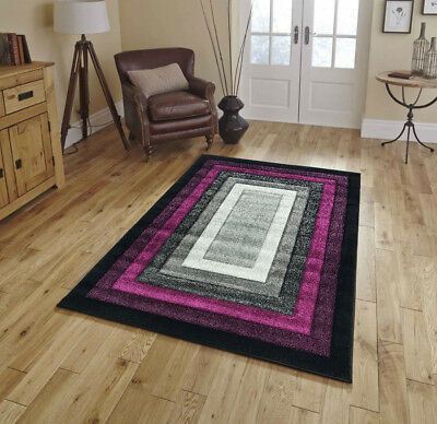 Large Purple Silver Black Modern Living Room Rugs Hall Runners Small Rug Mats
