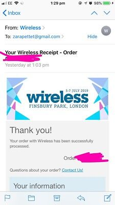 Wireless Festival 2019 Friday and Saturday ticket