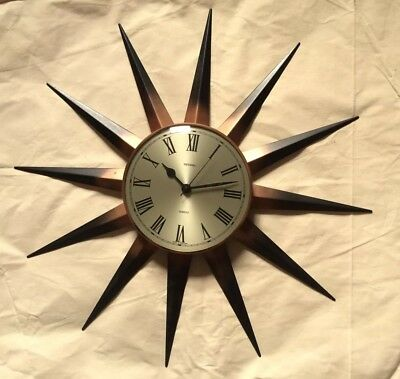 Vintage Metamec Starburst Sunburst Wall Clock