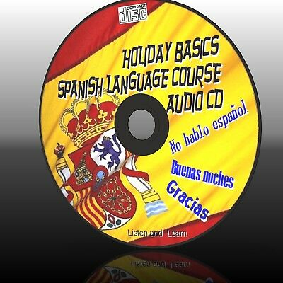 Learn Holiday Spanish Easy Language Course For Car Home Work Gym New Audio Cd