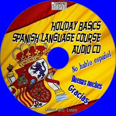 Basic Holiday Spanish Course Simple 2 Learn Essential Words/Phrases New Audio Cd