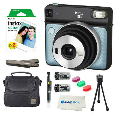 Fujifilm Instax SQUARE SQ6 Instant Film Camera (Aqua Blue) + Extra Accessories