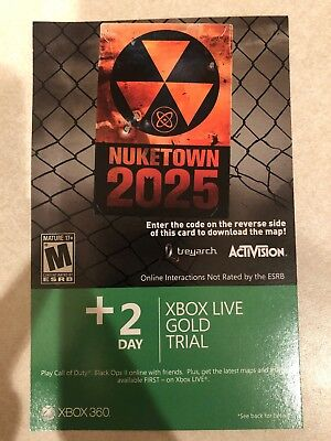 Call of Duty Black Ops II Xbox 360 Nuketown 2025 Add-on CODE + 2 Day XBL TRIAL