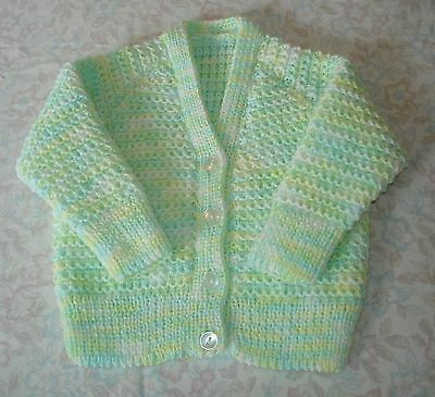 Hand Knitted Cardigan for Baby, approx 3 months