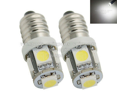 SMD LED E10 MES LLB987 Xenon White License Plate Sidelights Parking Marker Bulbs