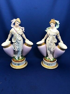 A Pair of Early Limoges Bisque & Gloss French Figurines Circa 1860