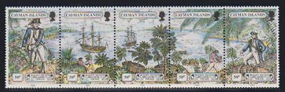Cayman Is. - 1989 Mutiny on the Bounty Strip. Sc. #608, SG #681a. Mint NH