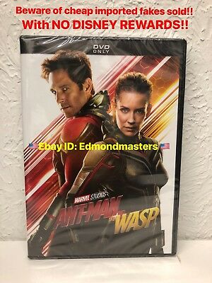 Ant-Man & The Wasp DVD New AUTHENTIC!! BEWARE OF CHEAP FAKES W/O DISNEY REWARDS!