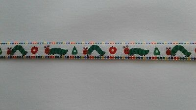 1m FOE Hungry Caterpillar 5/8 Fold Over Elastic FREE POST Craft Party