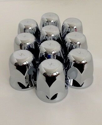 Alcoa 33mm push-on Chrome Lug Nut Covers w Metal Clips Inside (pack of 10)