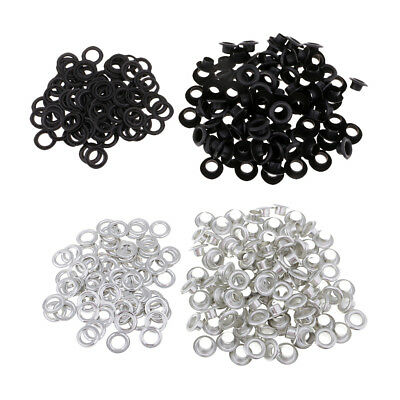 200 Sets Metal Grommets Eyelets with Washers for Tailor DIY Crafts Supplies