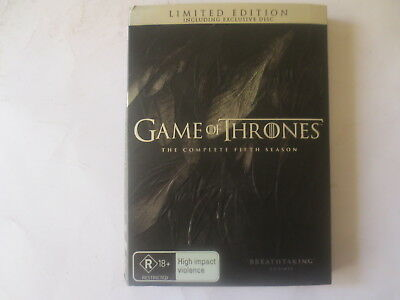 Game of The Thrones The Complete Fifth Season 5 DVD 6-Disc Set R4 #6266