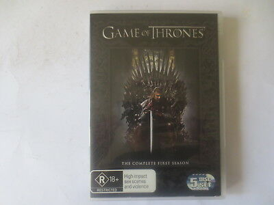 Game of The Thrones The Complete First Season 1 DVD 5-Disc Set R4 #6269