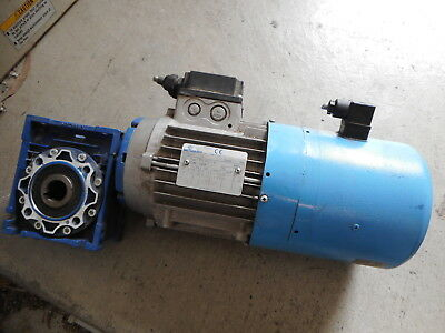 MOTOVARIO BRAKE-MOTOR and GEARBOX -- 0.75kW -- 3Phase -- NMRV050