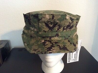 US Navy Nwu Type iii AOR2 8 Point Hat Size 7 3/4 New With Tags W/Navy ACE