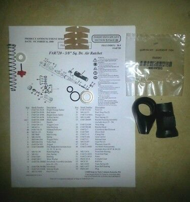 "Snap On Far720 3/8"" Ratchet Vane Kit, Trigger Valve Kit, Button Cover, O'rings"