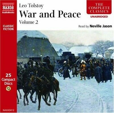 War & Peace Vol. 2 - Leo Tolstoy (CD New)