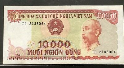Vietnam 10000vnd cotton 1993 circulated Banknote