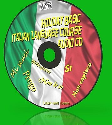 Learn Holiday Italian Simple Language Course For Car Home Work Gym New Audio Cd