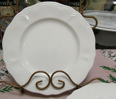 """Sears Federalist Ironstone 7 3/4"""" White Salad Plates Set Of Four Made In Japan"""