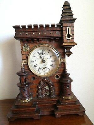 Antico Orologio Sveglia Liberty - Antique Alarm clock - Wecker antik