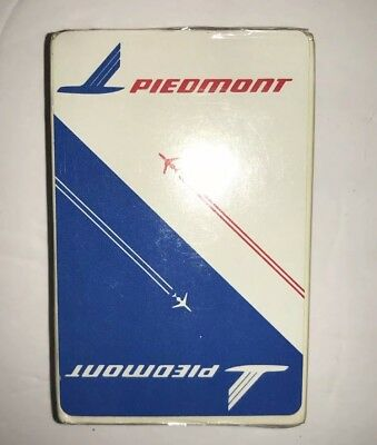 Rare Vintage Deck Piedmont Airlines Playing Cards Sealed