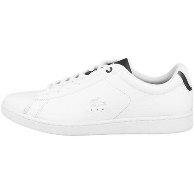 a379cee1b0 Lacoste Carnaby Evo 417 2 Chaussures Baskets en Cuir pour Homme Blanc 7