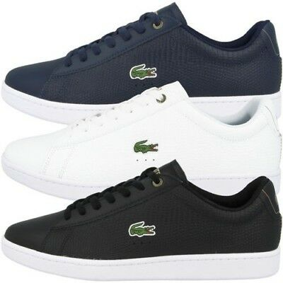 f01af10e6aa5 Lacoste Carnaby Evo 118 2 Cuir Chaussures Homme Baskets Loisirs 7-35SPM0005