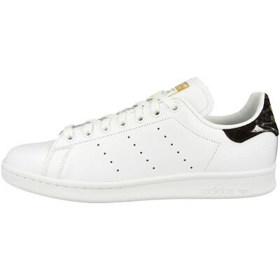 design de qualité a3f66 70ea5 ADIDAS STAN SMITH Baskets de Style Rétro Sport Tennis Baskets Blanc Noir  AH2456