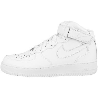 quality design 82e3b 2f739 Nike Air Force 1 Mid  07 Scarpe Cut Tempo Libero Sport Sneakers Bianco
