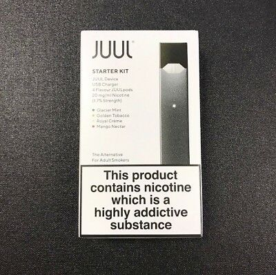Juul Vape Starter Kit. 100% Authentic with 4 pods