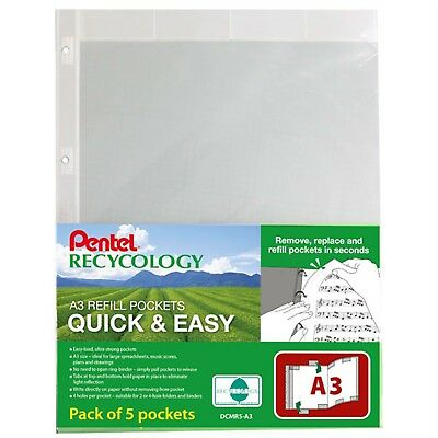 Pentel DCMR5-A3 Recycology Display Book - Quick & Easy - A3 - Pack of 5