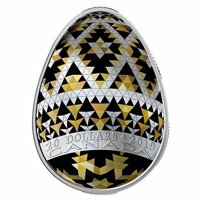 VEGREVILLE PYSANKA – 2019 $20 1 oz FINE SILVER COIN – ROYAL CANADIAN MINT