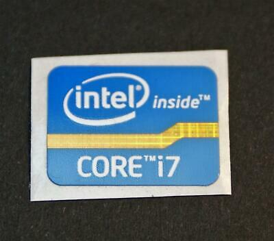 5x Intel Core i7 21mmx16 Blue Case Badge/Sticker Logo Pc Laptop Lsk