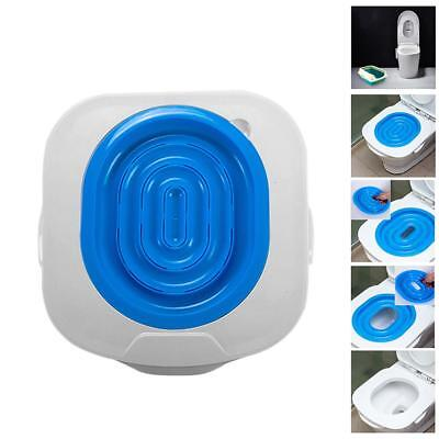 Plastic Cat Toilet Training Kit Litter Tray Box Trainer Pet Cleaning Supply Blue
