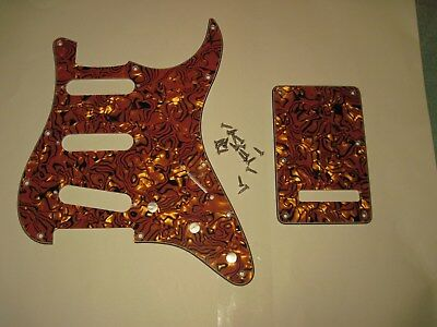 NEW Gold Abalone 4-ply 11-hole Pickguard For Fender Squier Stratocaster/Strat
